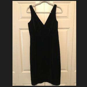 J Crew black velvet dress